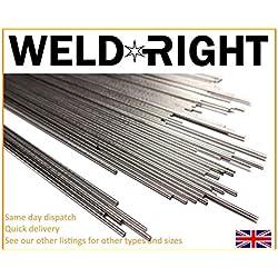 Weldright 50X Aluminio Alu 4043 Electrodos De Soldadura De Aporte TIG 1.6mm
