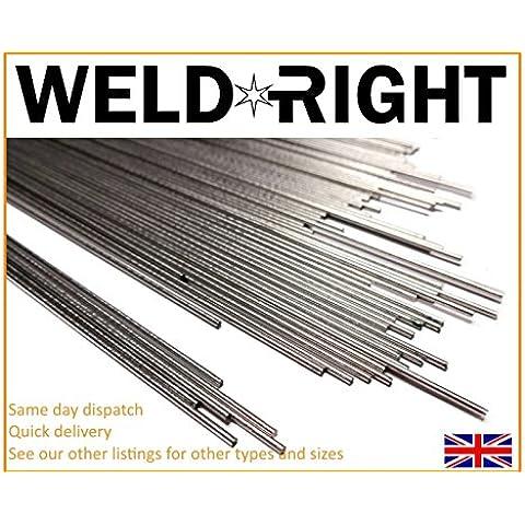 Weldright 20x In Alluminio Alu 5356 Tig Filler Saldatura Canne 1.6mm