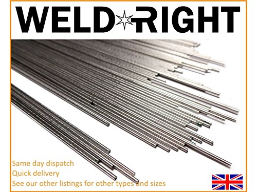 Weld Right 10X Aluminio Alu 1050 Electrodos De Soldadura De Aporte TIG 3.2mm