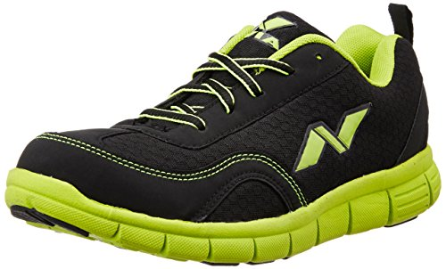 Nivia Escort Running Shoe, Men's 7 UK (Black/Green)  available at amazon for Rs.719