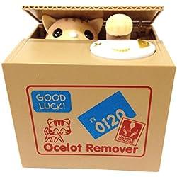 【UNTIL YOU】Gelddose Diebstahl Katzen Pandabär Elektronische Spardose witziges Geschenk für Pfötchen Sparbüchse Sparschwein Bank Piggy Bank Weihnachtsgeschenke Kinder Geschenke (Niedlich Gelb-Katze)