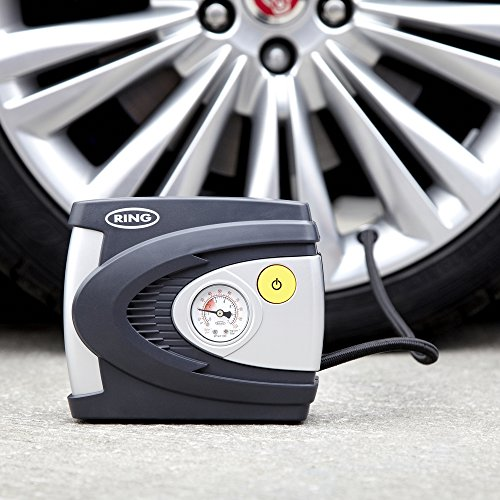 Ring RAC610 Analogue Tyre Inflator, 12V Air Compressor Tyre Pump, 4.5 Min Tyre Inflation, Valve Adaptors **AMAZON FAVOURITE**