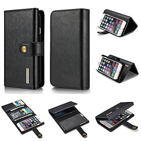 For Apple iPhone 6s Hülle, CuckooCase® [Echtleder] Original Klappbar Geldbörse