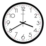 GuoEY Wall Clock decorativemodern simplicity the minimalism Metal not check the quiet movement alarm clock silent-I 10PO