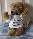 Worry Bear - Cuddle those worries away, Cute Bear with separate Bag of Worries