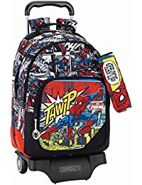 Marvel Spider-Man 611743863 Ultimate Mochila Escolar, 43 cm, Negro