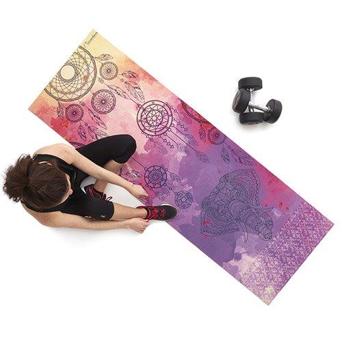 Esterilla de Yoga, Gruesa, Muy cómoda, antideslizamiento, Modelo atrapasueños, respetuosa con el Medio Ambiente