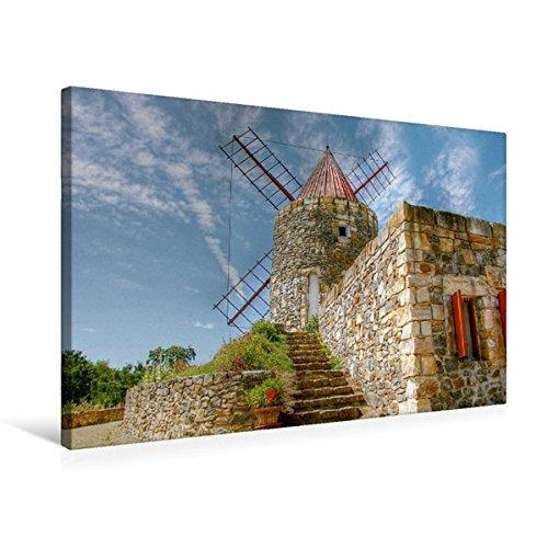 Calvendo Premium Textil-Leinwand 75 cm x 50 cm quer, Provenzianische Windmühle aus Frankreich nahe Arle in der Provence | Wandbild, Bild auf Keilrahmen. Leinwand, Leinwanddruck Natur Natur -