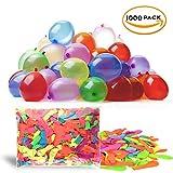 THE TWIDDLERS 1000 Mehrfarbige Wasserballons - Wasserbomben - 8 Neonfarben - Inklusive Zapfpistole Zum Einfachen Befüllen - Ideal für Wasserspiel & Sommerspaß, Luftballons Wasser