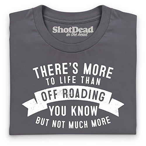 More To Life Off Roading T-Shirt, Herren Anthrazit