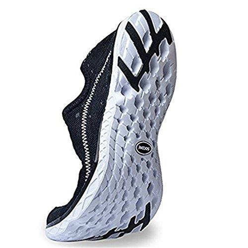 DoGeek Water Shoes Scarpe Acqua Uomo Scarpe da Spiaggia Dist Pelle Scarpe a Piedi Nudi Dell'Acqua Scarpe Acquatici per da Uomo Nero