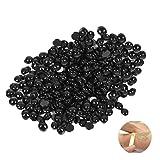 ROSENICE Épilation indolore Perle dépilatoire Perles de cire dure Haricots 50g (Noir)