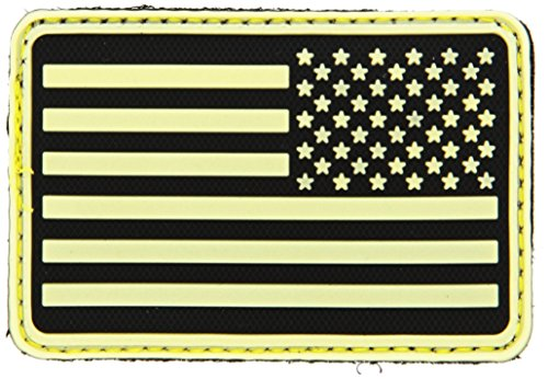 SA Flag Right Arm Morale Patch Glow in The Dark, PAT-R-YLO ()