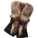 ♥ Loveso ♥ -Damen Outwear Frauen Winter-Körper warme Mantel-Pelz-Weste-Jacke ärmel Weste Gilet