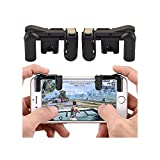 Mobile Game Controller für pubg, 1Paar Survival Game Controller mit Shoot und Ziel Tasten für pubg/Messer Out/Rules of Survival, Anzug für Oder 11,4–16,5cm Android iOS Handy