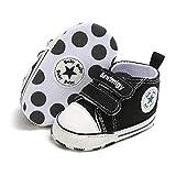 Babycute Chaussures en toile pour bébé Baskets avec semelle souple Style décontracté À lacets Pour garçon, fille, premiers pas