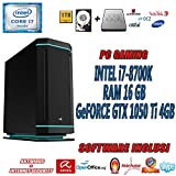 PC Assemblato da Gaming INTEL con CPU i7-8700K 3.7GHz fino a 4.7 GHz MAX VELOCITA' TURBO - Memoria RAM 16 GB DDR4 2400 MHz CRUCIAL/ TEAM GROUP - Hard Disk SSD 240GB CRUCIAL BX500 + HARD DISK 1TB , Scheda Madre ASRock Z370 KILLER SLI - Scheda Video GT...