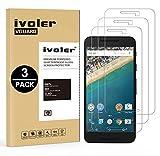 iVoler [3 Stücke] LG Google Nexus 5X Panzerglas Schutzfolie, 9H Härte, Anti- Kratzer, Bläschenfrei, [2.5D R&e Kante]