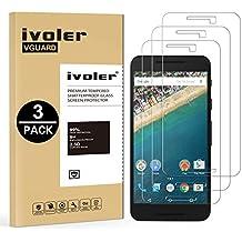 [3 Unidades] LG / Google Nexus 5X Protector de Pantalla, iVoler Protector de Pantalla de Vidrio Templado Cristal Protector para LG / Google Nexus 5X -Dureza de Grado 9H, Espesor 0,30 mm, 2.5D Round Edge-[Ultra-trasparente] [Anti-golpe] [Ajuste Perfecto] [No hay Burbujas]- Garantía Incondicional de 18 Meses