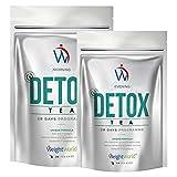 Tè Detox 28 Giorni - Tisana Disintossicante Per Purificare l'Organismo e Ridurre il Gonfiore Addominale - A Base di Tè Verde, Menta e Ortina - 100% Naturale e Vegan - WeightWorld