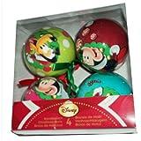 Set di 4 palle di Natale Disney Mickey Multicolor