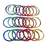 24 Rolls Multi-Coloured Aluminum Wire for DIY Sculpture and Crafts, 3 Assorted Sizes (0.8 mm, 1.5 mm & 2 mm in Diameter)