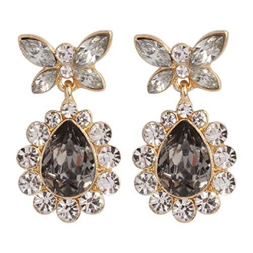 Ohrringe, Barlingrock-Ohrstecker, Mode Damenschmuck Tropfenform Diamantohrringe Einfache europäische und amerikanische Ohrringe (Grün/Grau/Rot/Gelb) - Grün Sleeper