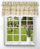 Ellis Curtain Clarice 52-by-12 Inch Ruffled Valance, Violet