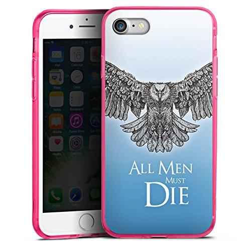 Apple iPhone 7 Silikon Hülle Case Schutzhülle GOT Statement Game of Thrones Silikon Colour Case pink