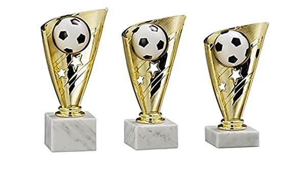 "3er-Serie Sport-Pokale /""Poker//Skat/"" goldfarben mit Wunschgravur"