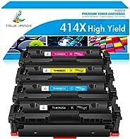 True Image Compatible Toner Cartridge Replacement for HP 414X W2020X W2020A 414A HP Color Laserjet Pro MFP M47