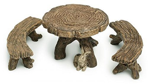 marshall-home-and-garden-log-table-bench-miniature-fairy-garden-accessory-mg1-model-toys-play