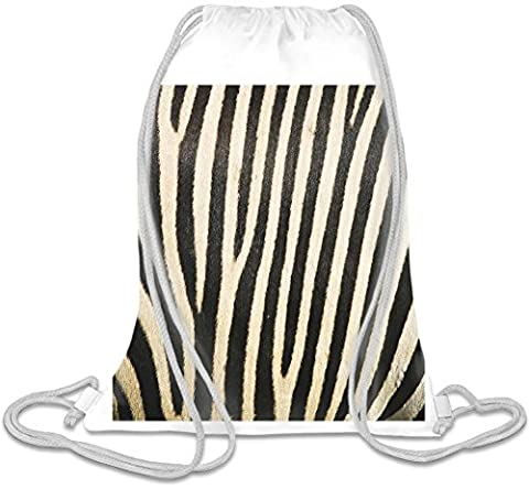 Zebra Print Custom Printed Drawstring Sack | 100% Soft Polyester| 5 Liter Capacity| Adjustable String Closure| The Stylish Bag For Every Day Use| Custom Bags By Bang