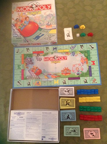 Parker Brothers Monopoly Junior Board Game 1999 Version by Hasbro