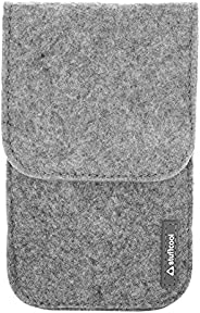 """Stuffcool Felt Pouch for up-to 5.5"""" Smartphones with Magnetic Button Cl"""