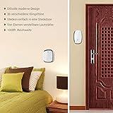 Türklingel- iLOME Doorbell 36 Klingeltöne Lautstärke einstellbar Ringgröße einstellbare 2 Empfänger 1 Sender weiß Kabellose Türklingel -