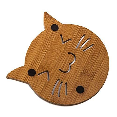 Suang Untersetzer aus Holz, Verbrühschutz, durchbrochen, rutschfest, 1 Stück, Holz, H06, Einheitsgröße