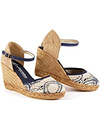 "VISCATA Satuna 3"" Wedge, Ankle-Strap, Closed Toe, Classic Espadrilles Heel Made in Spain"