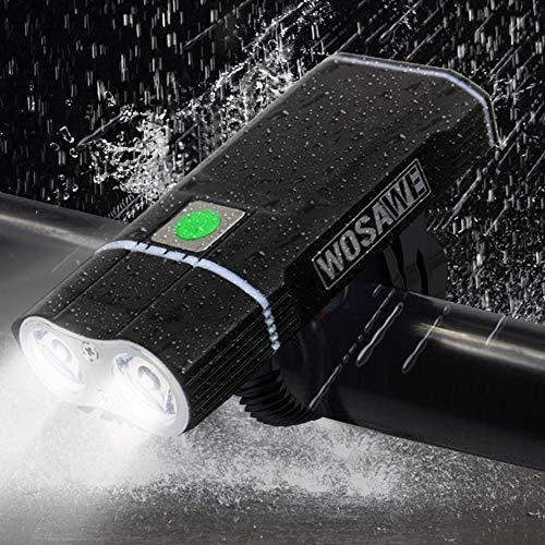 MTSBW Fahrrad Licht Blendung Doppel Taschenlampe Super Bright USB Wiederaufladbare Wasserdichte Outdoor-Camping