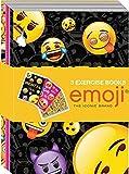 3 x Emoji Smiley école Exercice Carnet doublé A5 Bloc-notes Paquet Sac Soirée Cadeau