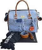 Doggy Dolly PC116 Hundetasche Jeans mit Henkeln, Trage- und Reisetasche, blau