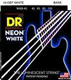 DR Strings - farbige Bass Saiten - white - 4-saiter, 045 - 105