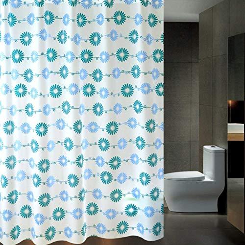 Duschvorhang PEVA Badezimmer Voller Schatten Duschvorhang Set Verdickt Wasserdicht Form Duschvorhang Partition Schild Vorhang (Farbe: Weiß, Größe: 200 * 200 CM) ( Farbe : Weiß , Größe : 300*200CM ) -