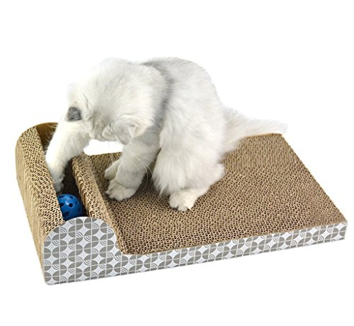 Senyepets Rascador para gatos con ranura de juego y pelota incluida