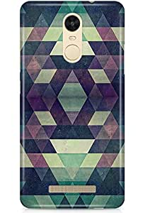 CASE U™ Tyrryn Patternic Designer Premium PolyCarbonate Case Back Cover for Redmi Note 3