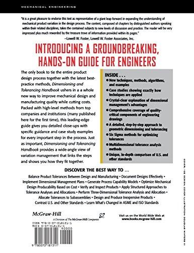 Dimensioning and Tolerancing Handbook (McGrawhill Engineering Handbook)