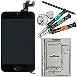 Trop Saint® LCD Retina Für Apple iPhone 5S Display Einheit Schwarz, VORMONTIERT Komplett Glas Touch Screen + Kamera + Home Button Black