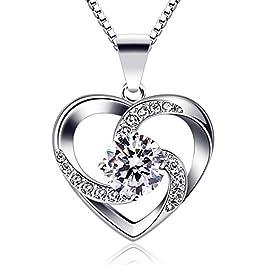 """B.Catcher – Collana da donna in argento Sterling 925 con ciondolo """"Crazy Love"""""""