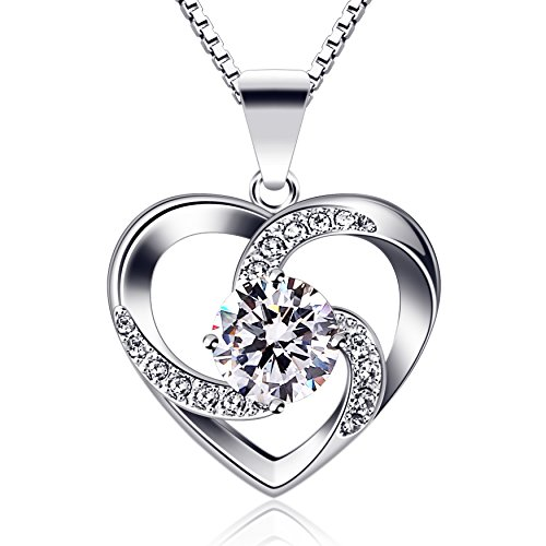 B.Catcher regalo di San Valentino per collana da donna argento Sterling 925 con ciondolo Crazy Love con lunga 457 inclusa