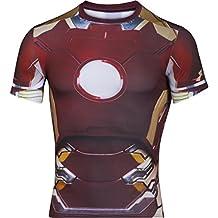 Under Armour IRON MAN PR FULLSUIT COMP SS - Camiseta de manga corta  para Hombre, color Granate, talla L